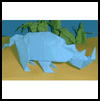 Making Origami Rhinoceros Directions