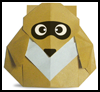 Making Origami Racoon