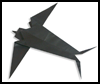 How to make origami swallows and birds swallow origami model