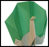 How to Make Origami Peacocks Directions