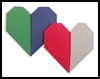 Folding Two   Paper Colour Hearts Instructions