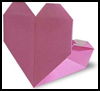How to Make Origami Heart   Pockets Tutorial