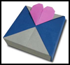 How to Make Origami Heart   Ornaments Directions