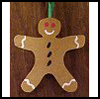 Sand Paper Gingerbread Ornament Craft for Children