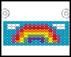 Rainbow Sun Catcher Pony Bead Pattern