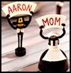 Pilgrim   Place Cards  : Table Placeholder Crafts for Kids