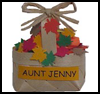 Mini   Fall Basket of Leaves   : Party Favor Placeholder Crafts Ideas for Children