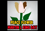 How to Make a Peace Handprints Flower Craft Idea for Martin Luther King Day