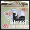 Altered Scrapbook Clipboard : Photo Album Crafts Ideas for Kids