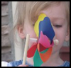 Colored Pinwheels : Pinwheel Crafts for Kids