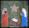 Nativity   Christmas Ornaments  : Easy Plastic Canvas Patterns Instructions