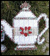Christmas   Tea Ornament Set  : Crafts Ideas with Plastic Canvas for Kids