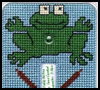 """Freddy   the Frog"" Lightswitch Cover   : Free Plastic Canvas Patterns for Children"