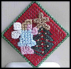 Christmas   Angel Pin  : Crafts Ideas with Plastic Canvas for Kids