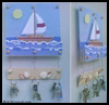 Ocean   & Sailboat Key Holder  : Plastic Canvas Activities