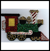 Candy   Cane Railroad  : Crafts Ideas with Plastic Canvas for Kids