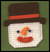 Plastic   Canvas Snowman Head Ornament