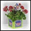 4th   of July Planter  : Crafts Ideas with Plastic Canvas for Kids