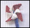Patriotic   Pinwheel Pin  : Plastic Canvas Activities