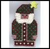 Country   Santa Ornament   : Free Plastic Canvas Patterns for Children
