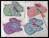 Bunny   Plastic Canvas Coasters  : Crafts Ideas with Plastic Canvas for Kids