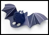 Batty   Finger Puppets  : Pom Pom Crafts Ideas for Kids