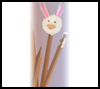 Easter   Bunny Pencil Toppers    : Crafts Projects with Pom Poms