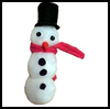 Pom-Pom   Snowman Magnet or Pin