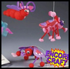 Bouncing   Love Bugs  : Pom Pom Crafts Ideas for Kids
