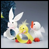 Easter   Critters Napkin Rings    : Crafts Projects with Pom Poms