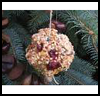 Pine   Cone Birdfeeder with Popcorns