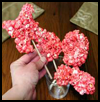 Edible   Popcorn Flowers  : Popcorn Crafts Ideas for Kids