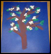 Apple   Tree Popcorn Art  : Popcorn Crafts Ideas for Kids