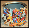 Decoupage   Puzzle Pot Craft  : Crafts with Potato Chip Cans