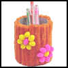 Poofy   Pencil Holder   : Potato Chip Cans Crafts for Kids