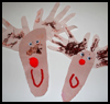 Hand    and Footprint Reindeers