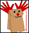 Paper    Bag Reindeer Craft