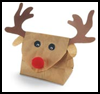Reindeer    Gift Bag    : Christmas Reindeer Crafts Activities for Kids