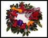Dog-Bone Ribbons Wreath Crafts Activity Idea