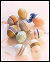 Egg Ribbons Ornaments Crafts Ideas for Easter Decorations