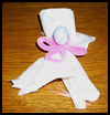 Easter Napkin Ribbons Ties Arts and Crafts Directions for Children