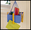 Message Mobile with Colorful Ribbons Craft