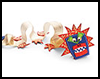 Festive Ribbon Dragon Crafts Instructions for Kids