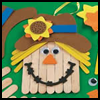 Wood   Craftstick Scarecrow Banner Craft Kit