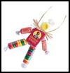 Scarecrow   Candy Necklace   : Scarecrow Crafts Activities for Children