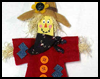 Free   Halloween Craft Projects - Paint Stick Scarecrow