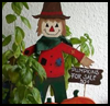 Wooden   Scarecrow and Pumpkins    : Scarecrow Crafts Projects