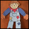 A   happy scarecrow   : Scarecrow Crafts Activities for Children