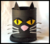 Tin    Can Black Cat    : Scary Black Cats Crafts Activities