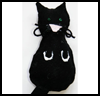 Felt    Toy Cat   : Scary Black Cats Crafts for Children